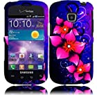 Samsung Galaxy Proclaim S720 ( Straight Talk , Net10 ) Phone Case Accessory Lovely Flower Hard Snap On Cover with Free Gift Aplus Pouch