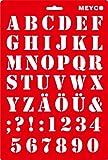 Schablone 20x31cm - Buchstaben A-Z und Zahlen Saloonschrift
