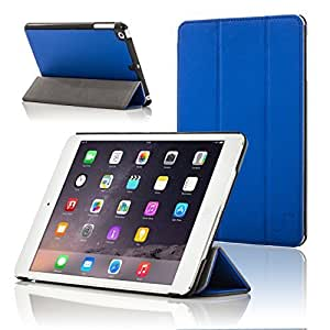 Forefront Cases Leather Case Cover/Stand with Magnetic Auto Sleep Wake Function for Apple iPad Mini - Blue