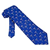 Lacrosse Tie Blue Silk Necktie - Mens Sports Neck Tie