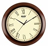 Sinar SQ-8327 Wooden Wall Clock(Size: 28*28 Cm Diameter)