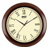 Sinar SQ-8327 Wooden Wall Clock(Size: 28*28 Cm Diameter)