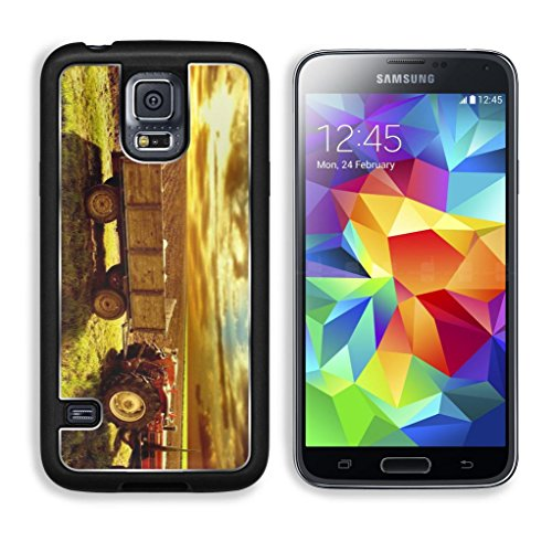 Landscape Country Tractor Cornfield Sky Sunset Punktail'S Collections Galaxy S5 Cover Premium Aluminium Design Tpu Case Open Ports Customized Made To Order