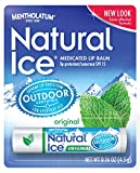 Mentholatum Natural Ice Medicated Lip Protectant SPF 15, Mentholatum 0.16-Ounce Tubes (Pack of 12)