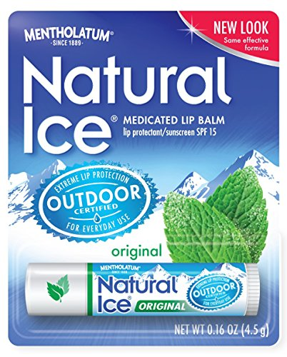 Mentholatum Natural Ice Medicated Lip Protectant SPF 15, Mentholatum 0.16-Ounce Tubes (Pack of 12) (Natural Balm compare prices)