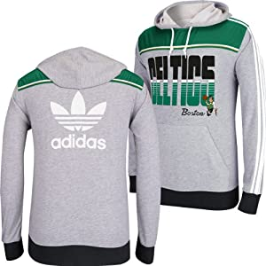 Boston Celtics Adidas NBA Originals Light Weight Hooded Sweatshirt L by adidas