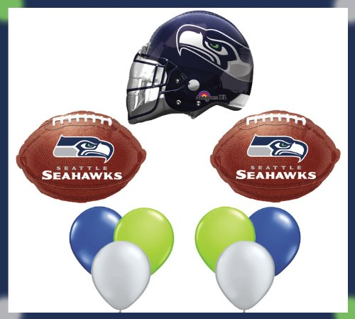 Seattle Seahawks Party Brown NFL Football Balloon Set at Amazon.com
