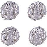 GS MUSEUM Silver Plated Rani Kumkum Plate 4 Sets