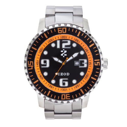 IZOD Men's IZS5/3 BLK/ORANGE Sport Quartz 3 Hand Watch