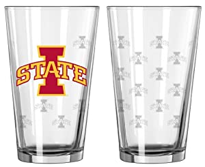 Buy Iowa State Cyclones Satin Etch Pint Glass Set by Boelter Brands