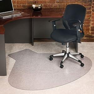 Workstation Shaped Chair Mat 54 X 60 Clear Vinyl C