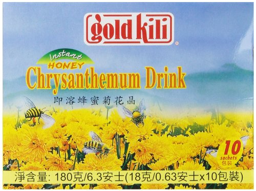 Gold Kili Instant Chrysanthemen Drink With Honey, 10-Count Packets, 6.3 Ounce (Pack Of 4)