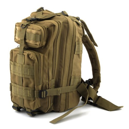 Neewer® 20L 3P Khaki Waterproof Sport Outdoor Rucksacks Tactical Backpack Camping Hiking Trekking Bag