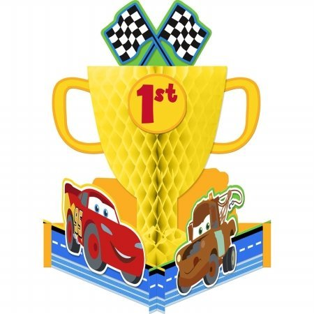 Cars 1st Birthday Honeycomb Centerpiece (1ct)