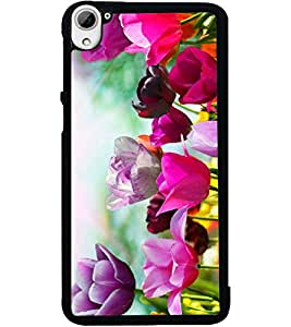 ColourCraft Beautiful Flowers Design Back Case Cover for HTC DESIRE 826