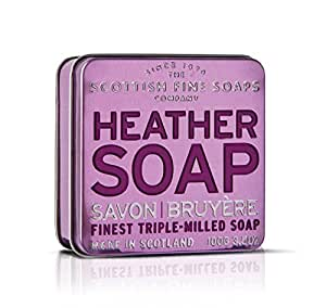 Scottish Fine Soap Heather Soap 100g in Tin