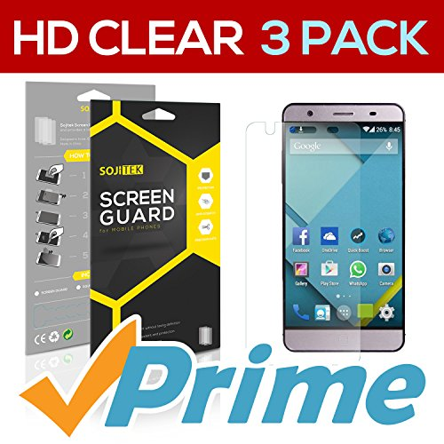 SOJITEK Elephone P7000 Premium Ultra Crystal High Definition (HD) Clear Screen Protector [3 Pack] – Lifetime Replacements Warranty + Retail Packaging