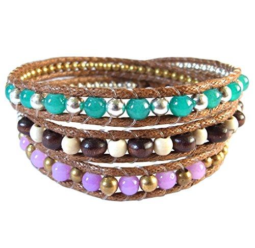 lun-na-asiatique-bracelet-wrap-fait-main-100-perles-en-bois-laiton-rhodium-quartz-couleur-rose-vert-