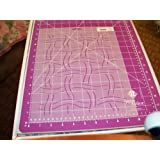 Quilting Creations Basket Weave Background Quilt Stencil