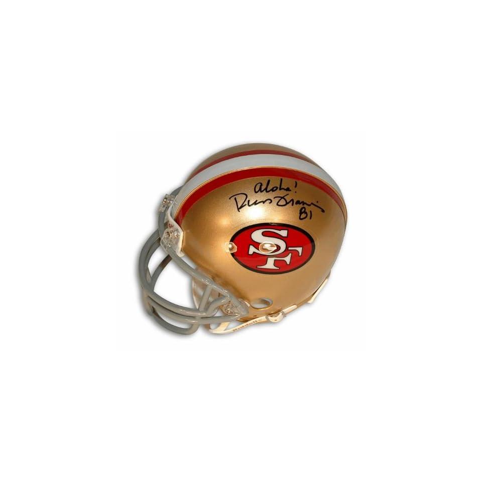 Russ Francis Autographed San Francisco 49ers Mini Helmet Inscribed Aloha