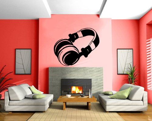 Headphones Music Song Entertainment Decor Wall Mural Vinyl Decal Sticker M022