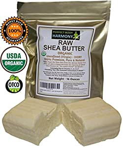 Perfect Body Harmony ORGANIC RAW SHEA BUTTER Unrefined IVORY You Can Now Buy THE BEST Premium SHEA BUTTER What's In Your Shea Butter? Now You Can Buy With Confidence Because Ours Is Organic Natural