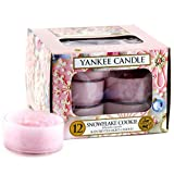 Yankee Candle 12-Piece Tea Lights, Snowflake Cookie