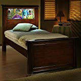 SALE$$ LightHeaded Beds Riviera Twin Bed with back-lit LED Headboard Imagery - Cheshire Cherry