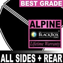 Saab 9-5 95 5DR Wagon 04 2004 Precut Window Tint - Super High Heat Rejection Black Box Alpine - F35R5