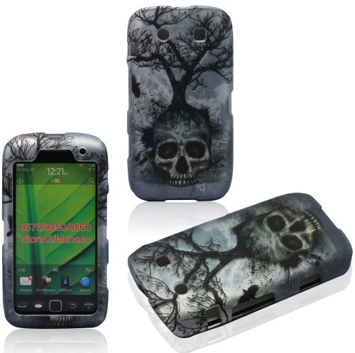 2D Tree Skull BlackBerry Torch Monaco Storm3 9850 9860 9570 AT&T Case Cover Hard Case Snap-on Rubberized Touch Case Cover Faceplates