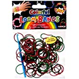 DIY Bands D.I.Y. Do it Yourself Bracelet Bands 100 RED & GREEN Holiday Tie-Dye Rubber Bands with Hook Tool & Clips at Sears.com