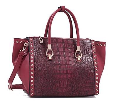 MyLux® Connection Fashion Designer Shoulder Handbag 61442 RED