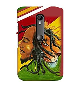 printtech Bob Marley Lion Back Case Cover for Motorola Moto G Turbo Edition