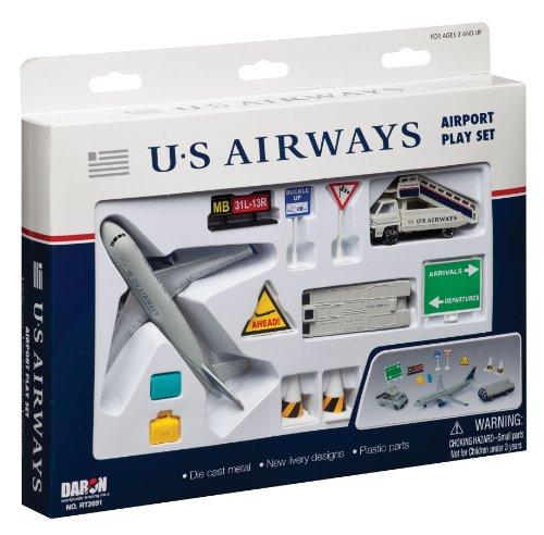 Daron US Airways Airport Playset, 12-Piece (Us Airways Plane compare prices)