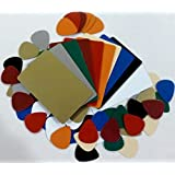 Guitar Pick Strip Pack, Plastic Card Assortment for Guitar Pick Punch, Includes 10 Different Colors
