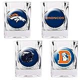DENVER BRONCOS NFL 2OZ 4PC COLLECTORS SHOT GLASS SET