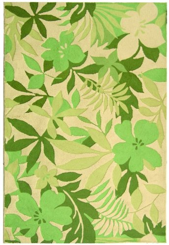 Safavieh Berkeley Collection BK126A-210 Handmade Beige and Green Wool Area Runner, 2-Feet 6-Inch by 10-Feet