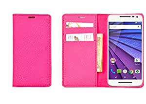 R&A Pu Leather Wallet Case Cover For Micromax Canvas Juice 2 AQ5001