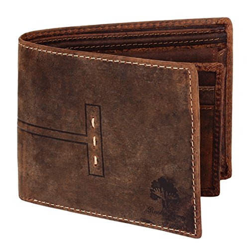 Luxury RFID Wallets RFID Blocking Leather Wallets for Men (Dark Brown)