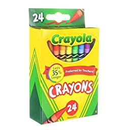 Crayola Crayons Assorted Colors 2 Packs of 24 (48pcs)
