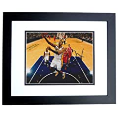 Paul George Autographed  Hand Signed Indiana Pacers 8x10 Photo - BLACK CUSTOM FRAME