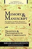 img - for Memory and Manuscript with Tradition and Transmission in Early Christianity (Biblical Resource) book / textbook / text book