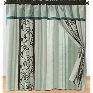 teal curtains | eBay - Electronics, Cars, Fashion, Collectibles