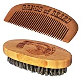 #9: Gangs of Beard Bamboo Comb and Boar Bristle Brush Combo