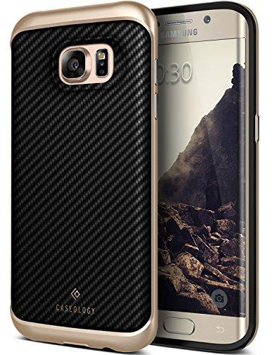 Galaxy S7 Edge Case, Caseology [Envoy Series] Premium Leather Bumper Cover [Carbon Fiber Black] Leather Bound Bumper Cover for Samsung Galaxy S7 Edge (2016) - Carbon Fiber Black (Leather Edge Case compare prices)