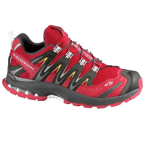 SALOMON XA Pro 3D Ultra 2 Ladies Trail Running Shoes, Red/Black, UK8.5