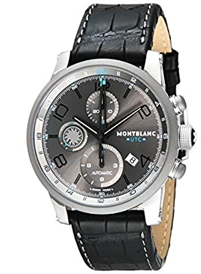 [Mont Blanc] MONTBLANC watch TIME WALKER UTC gray dial automatic winding alligator leather 107339 Men's parallel import goods]