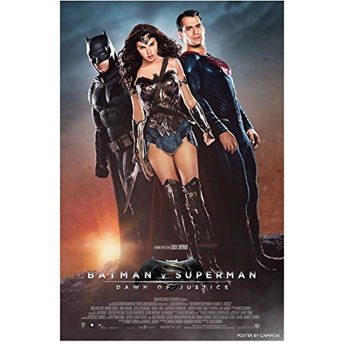 Batman v Superman Dawn of Justice Gal Gadot as Wonder Woman Standing with Batman and Superman Closed Fists 11 x 17 Poster Litho