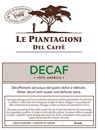Find ESE Coffee Pods Brazilian Water Decaf 100% Arabica (50 Pods) from Le Piantagioni del Caffè