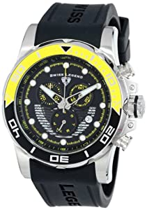 Swiss Legend Men's 21368-01-YAB Avalanche Chronograph Black Dial Silicone Band Watch